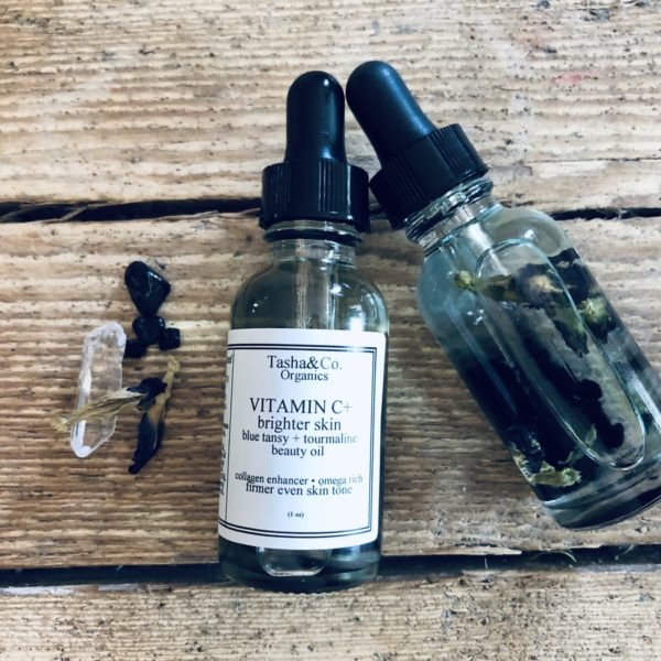 Vitamin C+ Skin Brightening Age Reverse Beauty Oil  with Blue Tansy essential oil