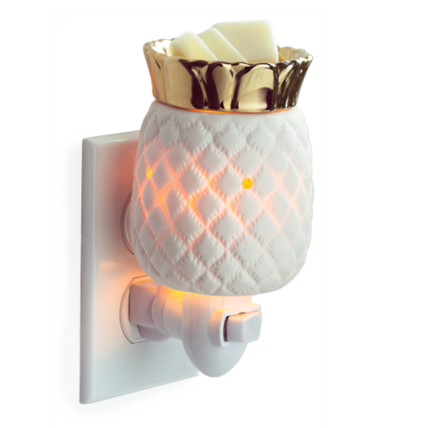 Pineapple Pluggable Wax Melt & Essential Oil Warmer + Free Wax Melt