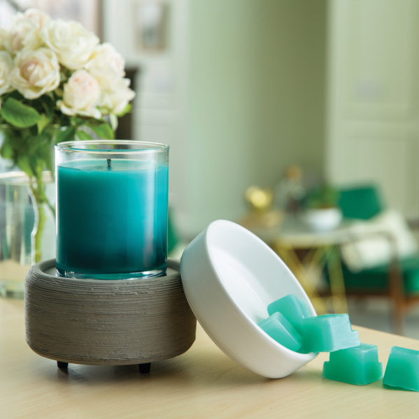 Gray Texture 2-in-1 Wax Melt, Essential Oil & Candle Warmer + Free Wax Melt Cup