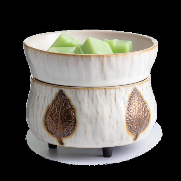 Bronze Leaf 2-in-1 Wax Melt, Essential Oil & Candle Warmer + Free Wax Melt Cup