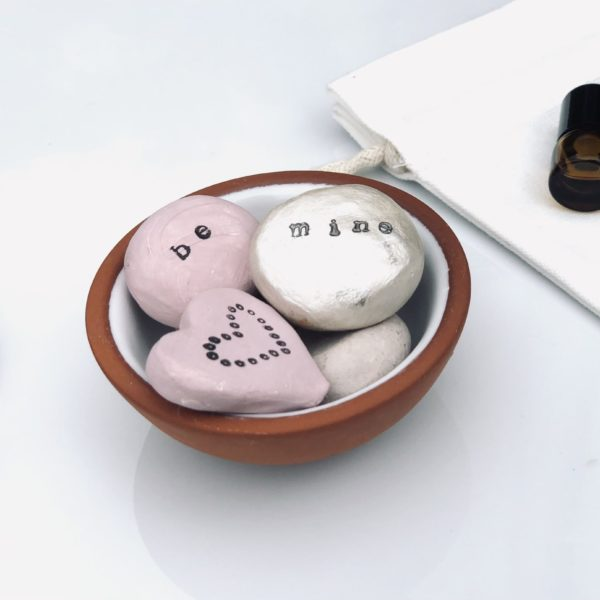 Be Mine Affirmation Clay Stones and Terra Cotta Bowl Diffuser Kit
