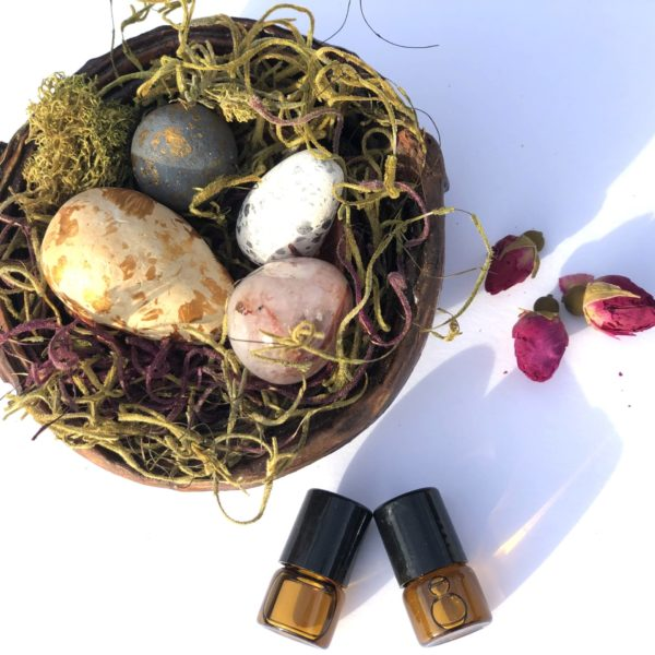 Gemstone Crystal & Clay Stone Diffuser Nest – Home Aromatherapy Decor