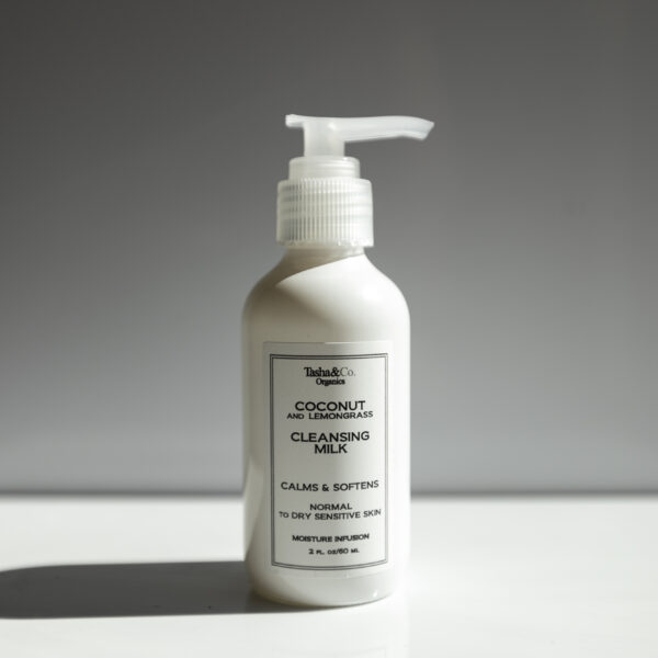 Moisturizing Cleansing Milk – Coconut and Lemongrass – for Normal to Dry Sensitive Skin
