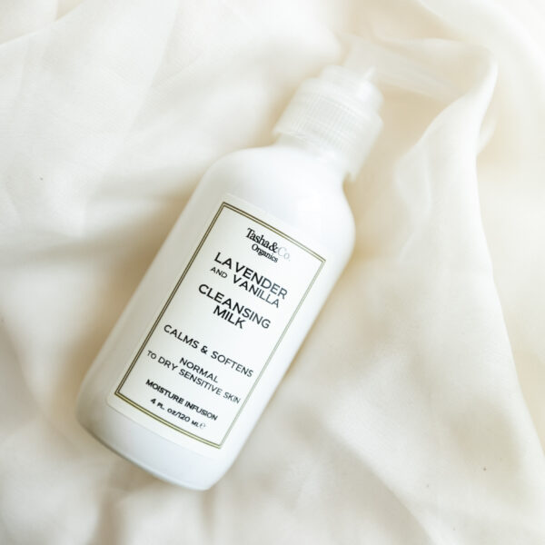 Moisturizing Cleansing Milk – Lavender and Vanilla – for Normal to Dry Sensitive Skin