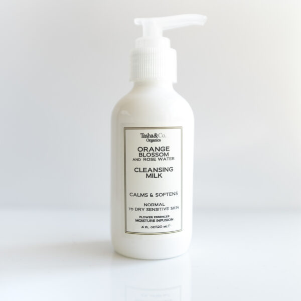 Moisturizing Cleansing Milk – Orange Blossom and Rose Water – for Normal to Dry Sensitive Skin