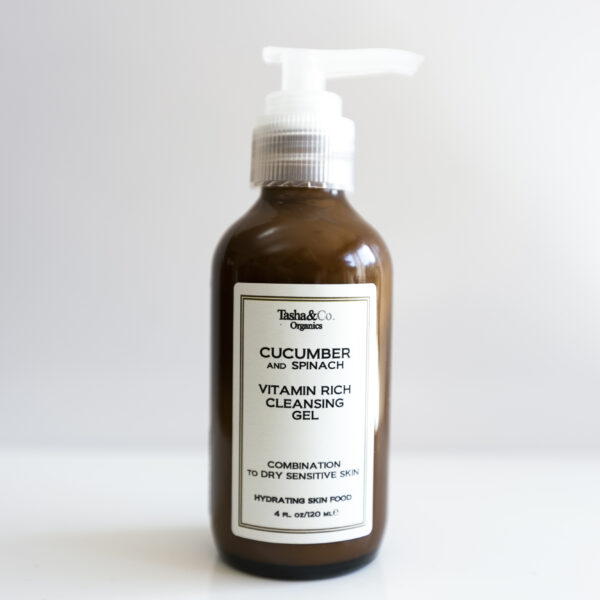 Cucumber and Spinach Vitamin Rich Superfood Cleansing Gel- for All Skin Types