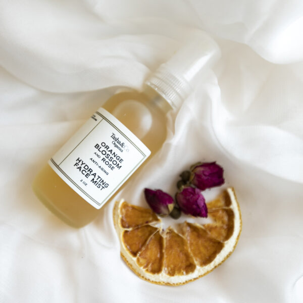 Orange Blossom and Rose Hydrating Face Mist – with Hyaluronic Acid and Peptides – For All Skin Types